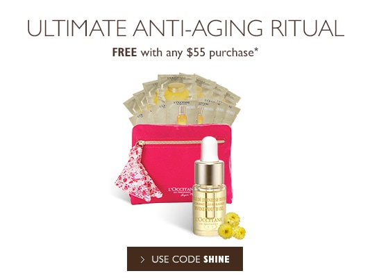 Receive a free 16-piece bonus gift with your $55 L'Occitane purchase
