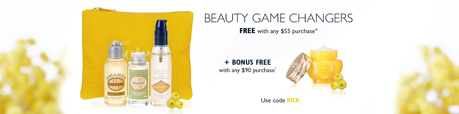 Receive a free 4-piece bonus gift with your $55 L'Occitane purchase