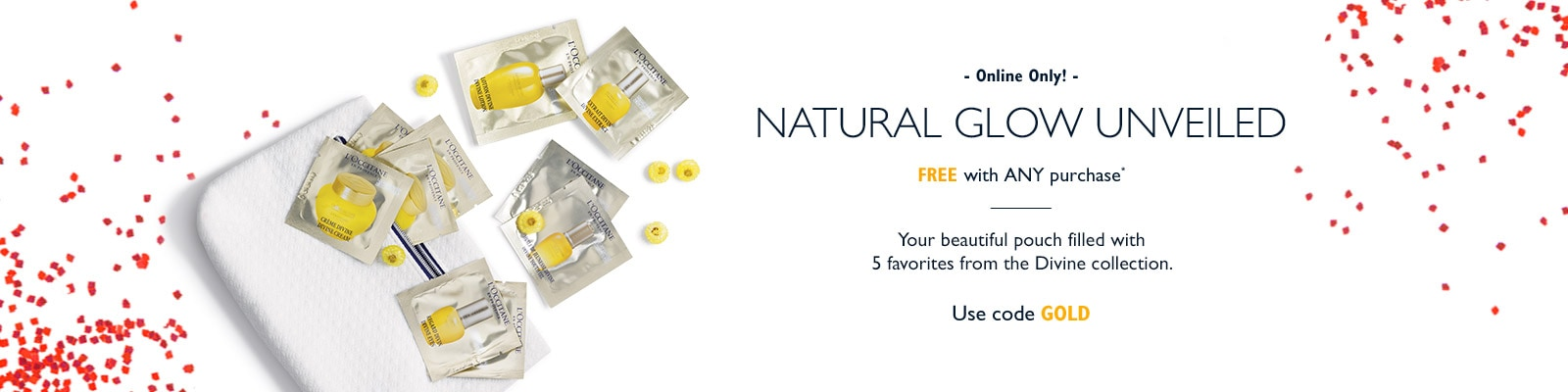 Receive a free 6-piece bonus gift with your L'Occitane purchase