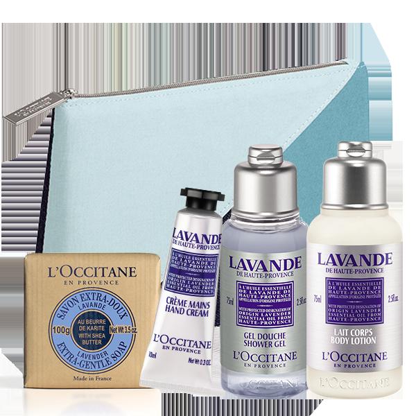 Taukmedžių sviesto kelioninis rinkinys su kosmetine | L'OCCITANE