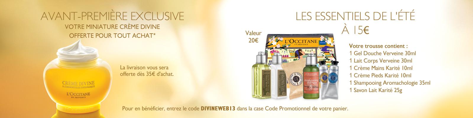 Offre Divine Marie-Claire - L'Occitane France