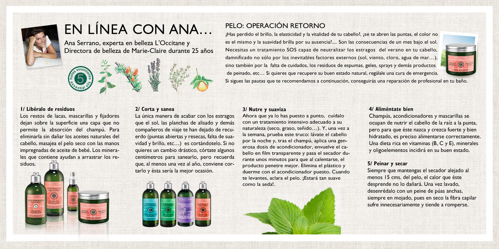 Aromacología - Linea con Ana - L'Occitane