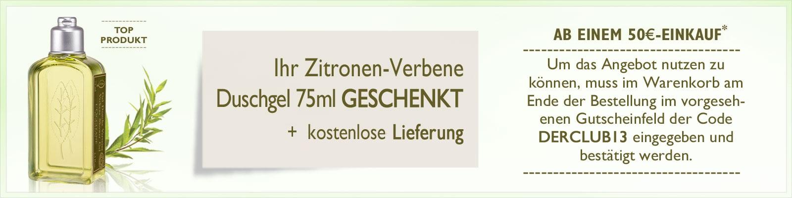 Exklusiv-Angebot Zitronen-Verbene Duschgel - L'Occitane Deutschland