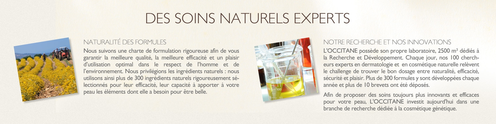 Soins naturels experts - L'Occitane