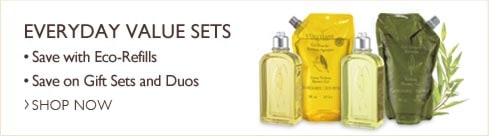 Everyday Value Sets.  Save with Eco-Refills.  Save on Gift Sets and Duos