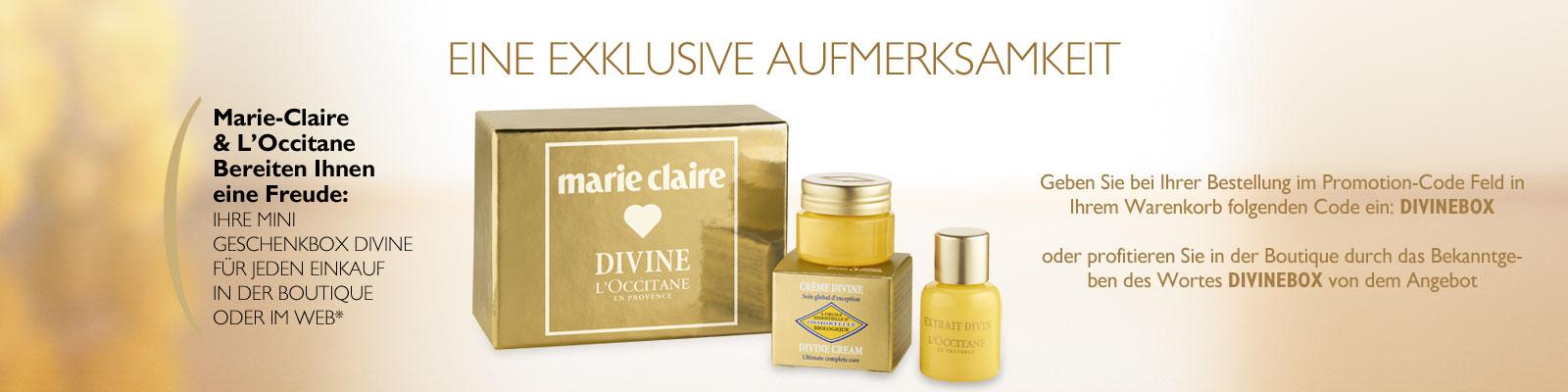 Offre Divine Marie-Claire - L'Occitane Suisse