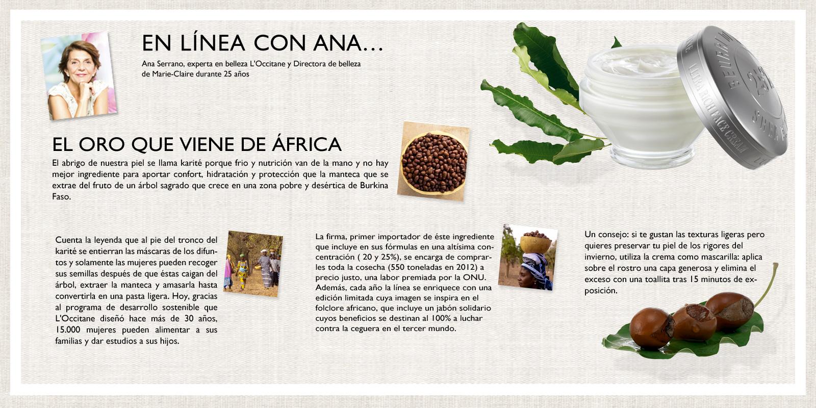 En linea con ana karite - L'Occitane en Provence espana