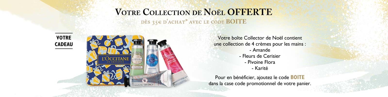 Boîte Collector de Noël - L'Occitane en Provence