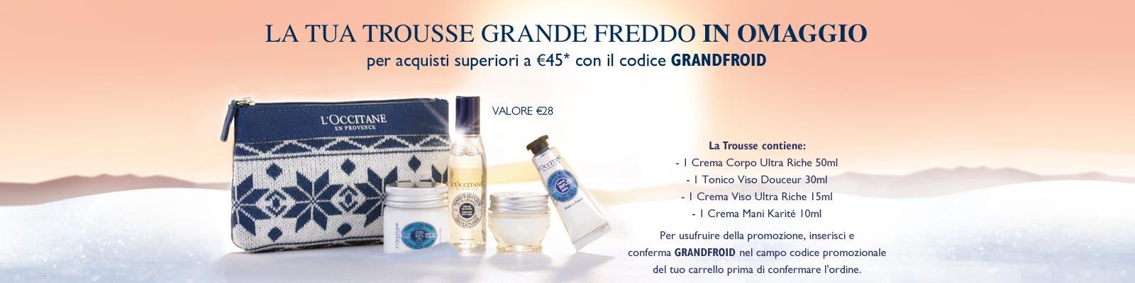 Offerta Grande Freddo - L'Occitane France
