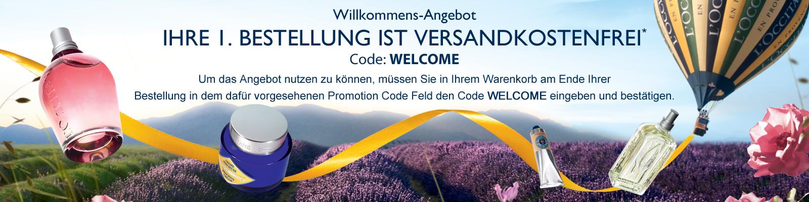 Willkommens-Angebot - L'Occitane Switzerland