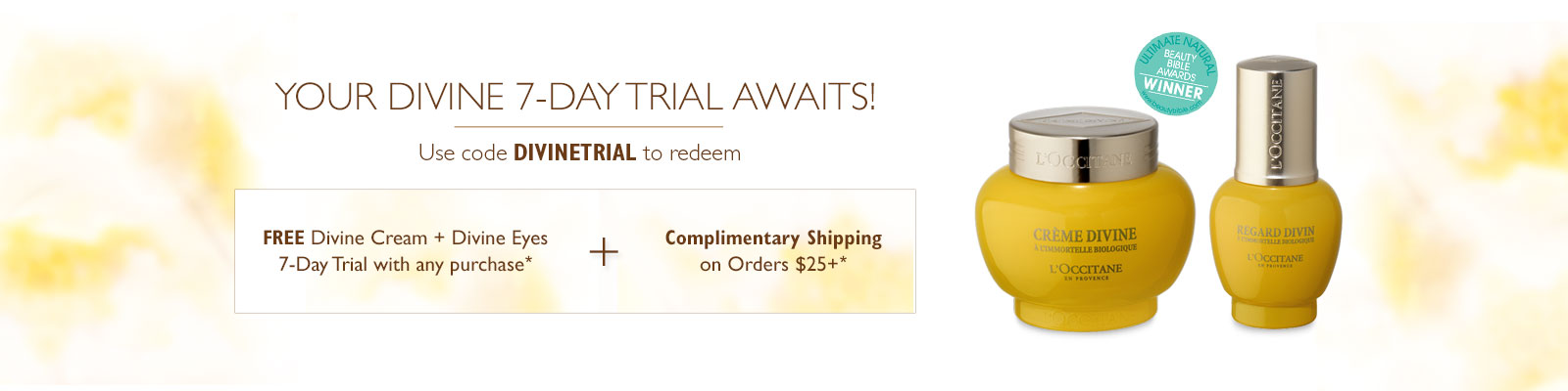 Your Divine 7-Day Trial Awaits!  Use code DIVINETRIAL to redeem.