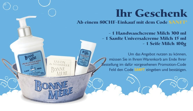 SANFTES ANGEBOT - L'Occitane Switzerland