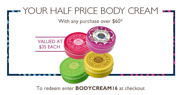Your Half Price Body Cream