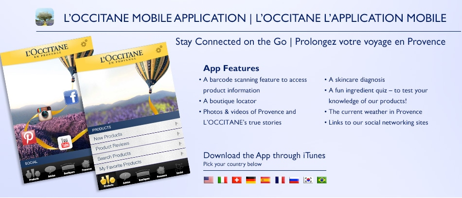 Loccitane Mobile Application