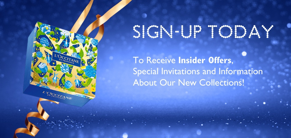 Sign Up for Special Offers and Promotions