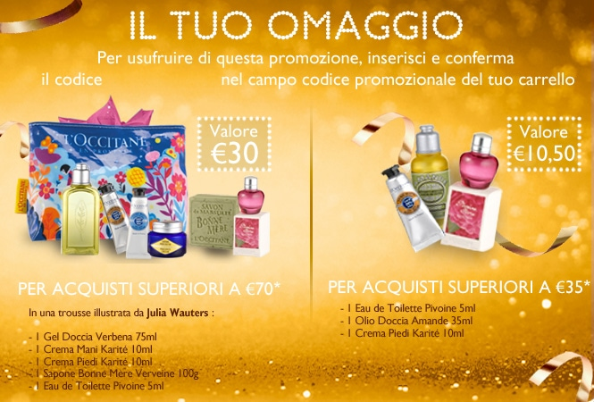Promozione offerta de L'Occitane – Fai un regalo e ne ricevi uno anche tu. Scopri l'offerta!