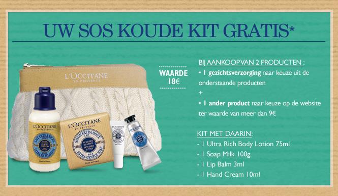 Uw SOS koude kit GRATIS*