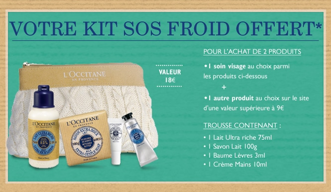Votre Kit SOS froid OFFERT*