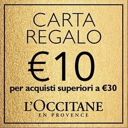 Carta regalo da €10 IN OMAGGIO per acquisti superiori a €30