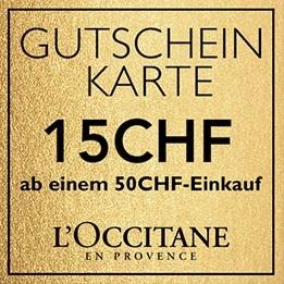GUTSCHEIN-KARTE 15CHF ab einem 50CHF