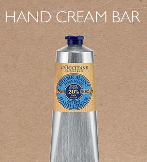 hand cream bar