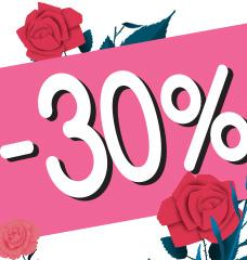 30% DE DESCONTO