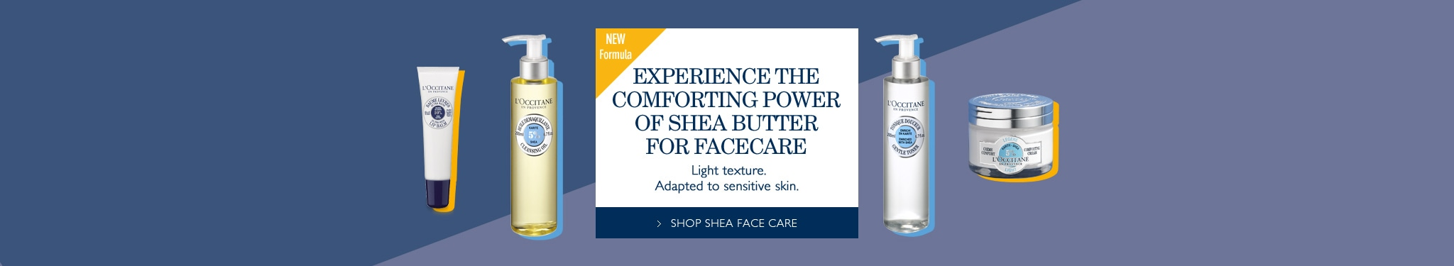 EXPERIENCE THE COMFORTING POWER OF SHEA BUTTER FOR FACE CARE