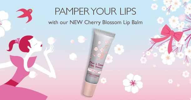 Pamper your lips with our NEW Cherry Blossom Lip Balm