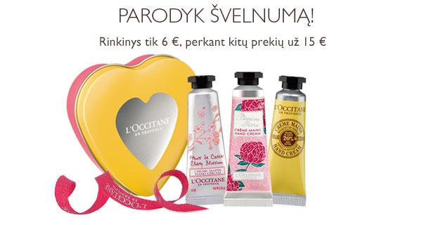 PARODYK ŠVELNUMĄ! Rinkinys tik 6 € perkant kitų prekių be nuolaidos už 15 €
