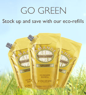 Go Green. Stock up and save with our eco-refills.