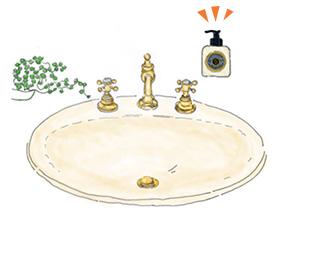 キッチンや洗面所などの水回りに。