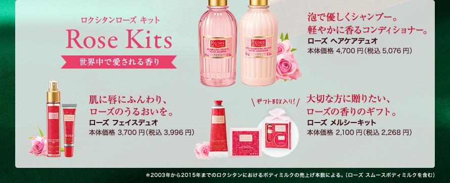 ロクシタンローズ キット Rose Kits 世界中で愛される香り
