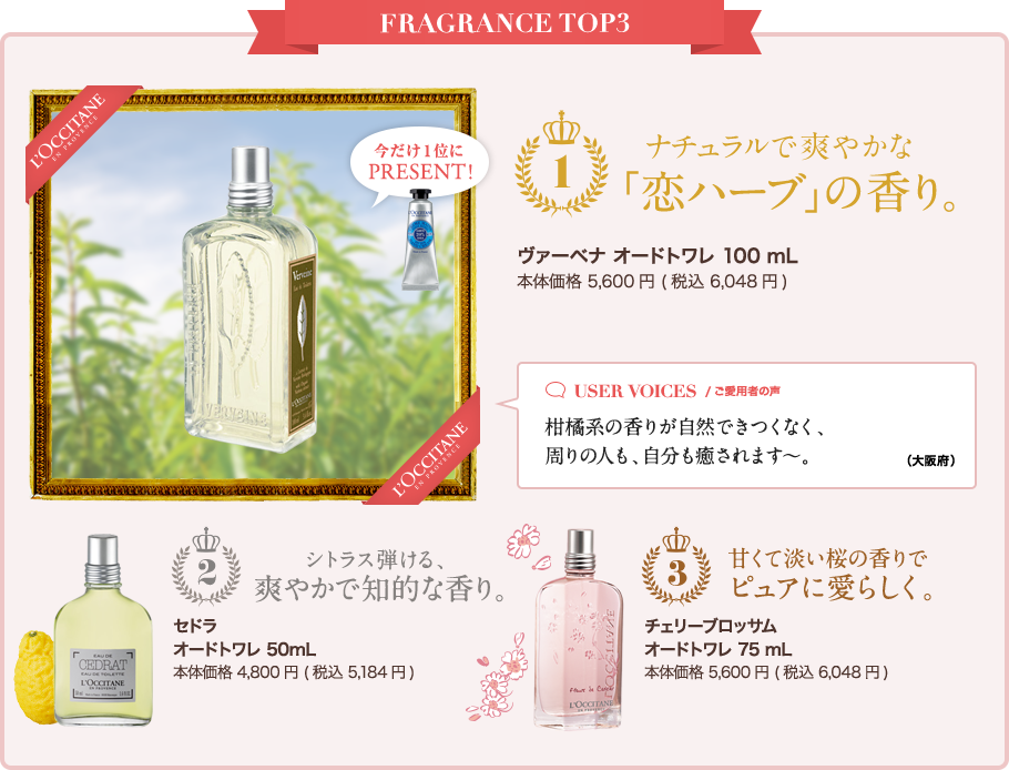 FRAGRANCE TOP3