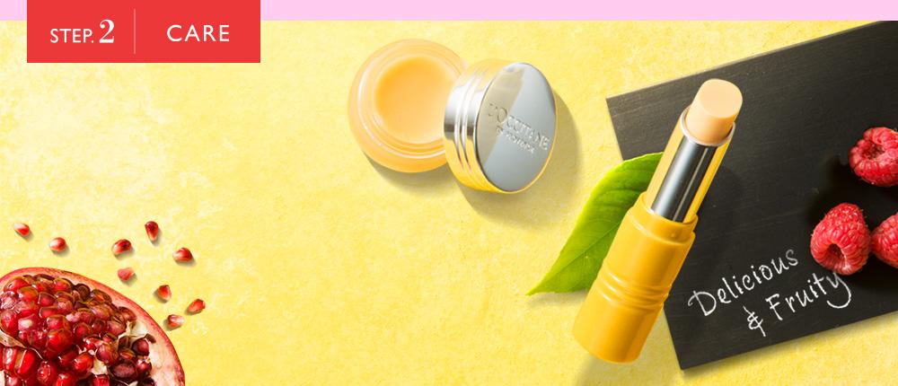 STEP.2 CARE 【リップマルチバーム】口紅のその前に保湿。乾燥した唇に、ビタミンとうるおいのケア。【リップパーフェクター】あなたの色になる!ビタミンジュースのようなカラーなのに、唇にのせるとあなただけのナチュラルなピンク系に発色。